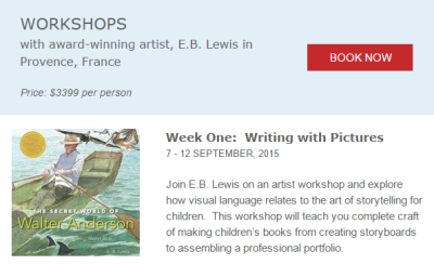 Writing with Pictures workshop offered 9/7-9/12/15